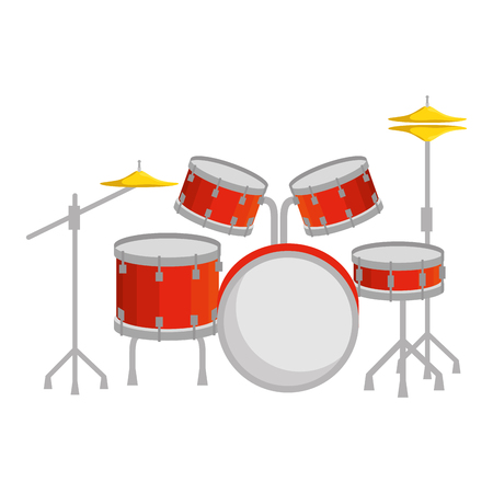 battery drums musical instrument vector illustration design 向量圖像