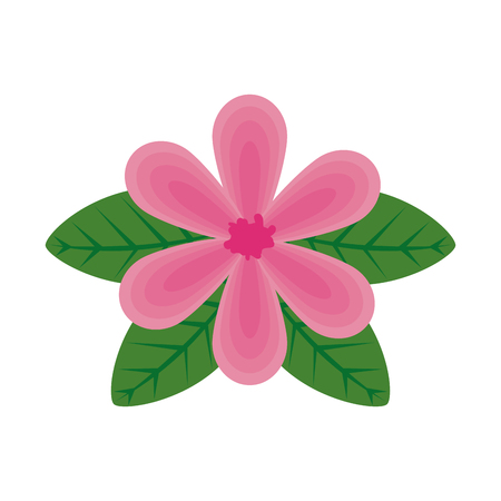 flower with leafs icon vector illustration design Archivio Fotografico - 124357552
