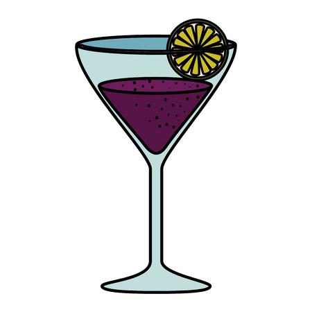 margarita cocktail in cup vector illustration design Stock Illustratie