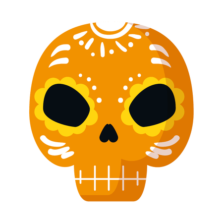 death mask mexican icon vector illustration design