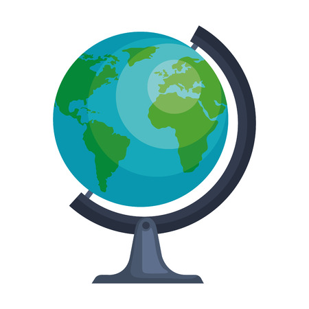 Weltplanet Erde Ikone Vektor-Illustration Design