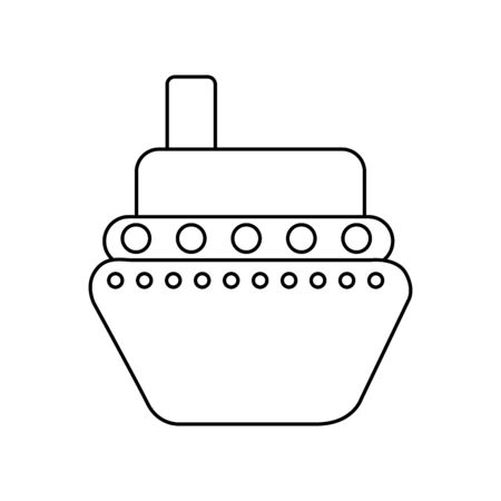 boat surfing isolated icon vector illustration design