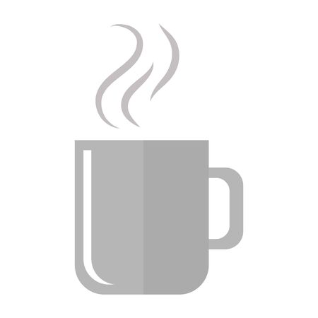hot coffee mug on white background vector illustration design