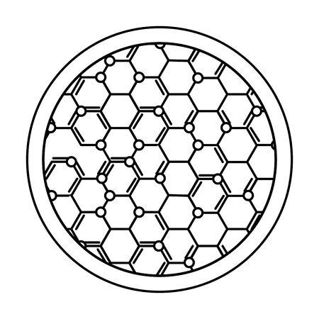 struttura molecolare scienza icona illustrazione vettoriale design