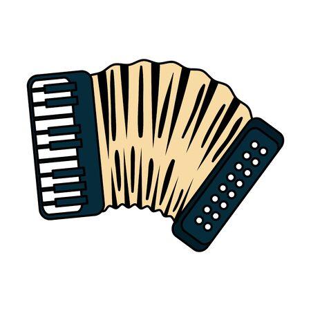 L'icône de l'instrument de musique accordéon conception d'illustration vectorielle