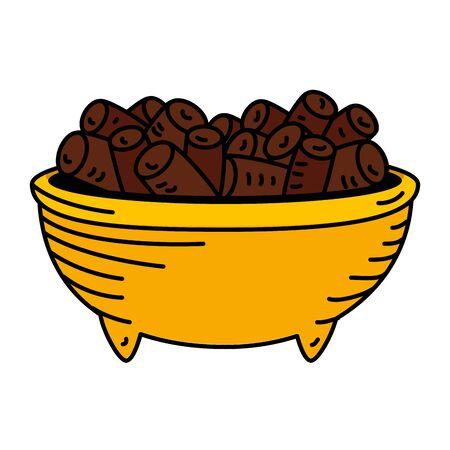 ramadan kareem dish food vector illustration design