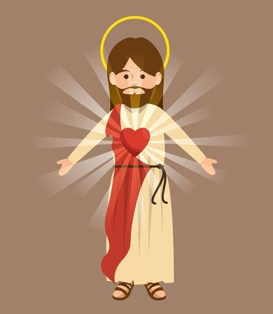 jesus christ religious character vector illustration design Reklamní fotografie - 124634594