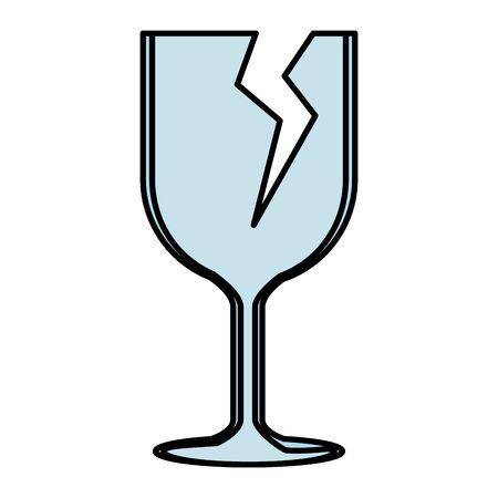 cup break fragile symbol vector illustration design Illustration