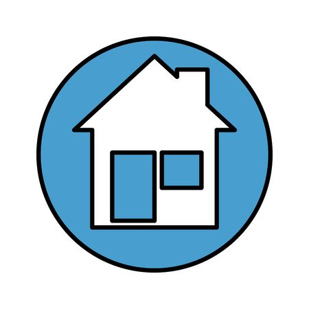 house facade isolated icon vector illustration design Vector Illustration