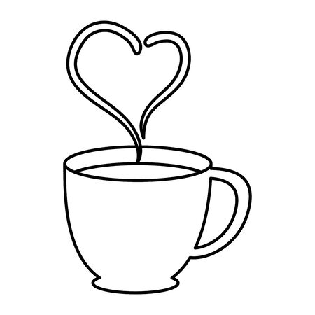 coffee cup with heart vector illustration design Stock Vector - 124867931