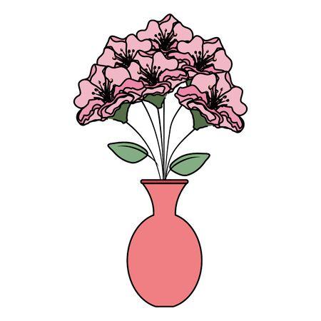vase with roses icon vector illustration design Stock Illustratie