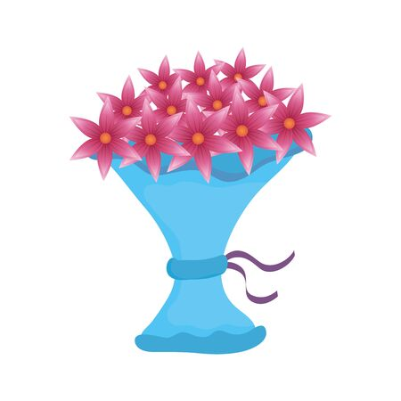bouquet of flowers icon vector illustration design  イラスト・ベクター素材