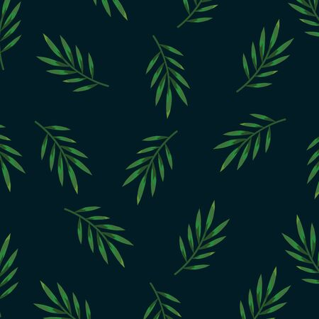 nature branches leaves plants background vector illustration