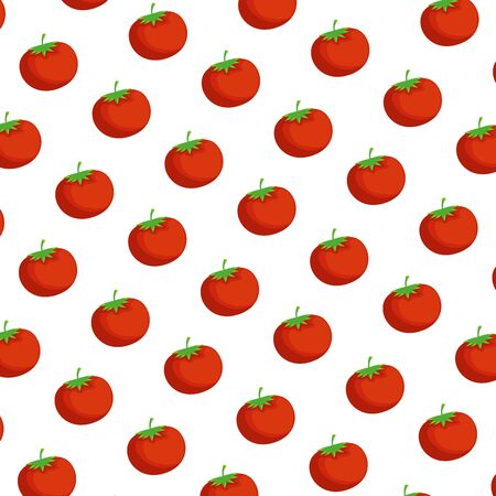 fresh tomatoes pattern background vector illustration design Banco de Imagens - 124884943