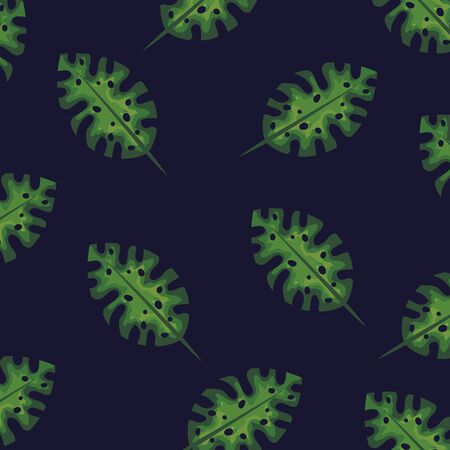 tropical leaves of nature plant background vector ilustration