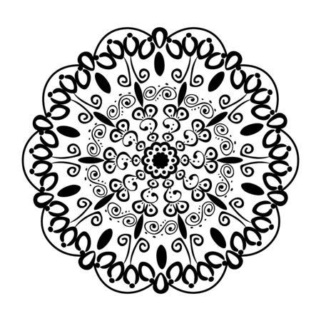 zwart-wit mandala Victoriaanse stijl vector illustartion ontwerp