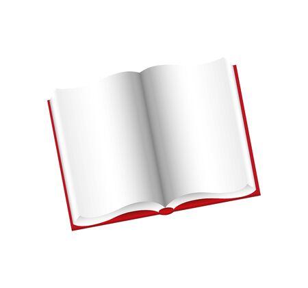 Scuola di libro isolato icona illustrazione vettoriale design Vettoriali