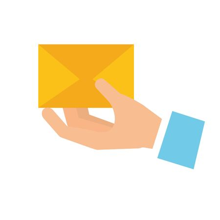 hand with mail envelope vector illustration design Ilustrace