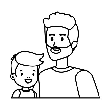 young father with son characters vector illustration design Standard-Bild - 124887239