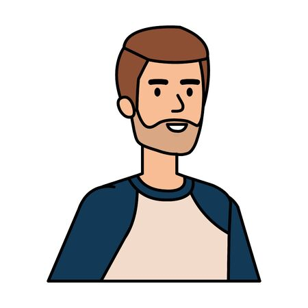 young and casual man character vector illustration design Illustration