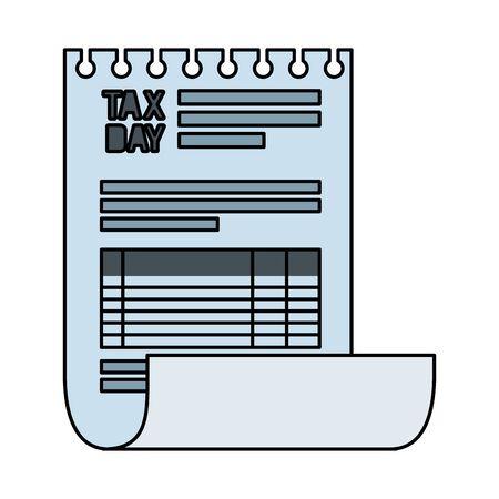 tax documents paper icon vector illustartion design