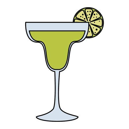 margarita cocktail fresh icon vector illustration design