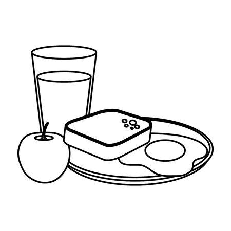 delicious breakfast menu icons vector illustration design Stock Illustratie