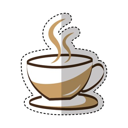 coffee cup drink isolated icon vector illustration design Иллюстрация