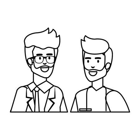 professionals doctor and surgeon characters vector illustration design Иллюстрация
