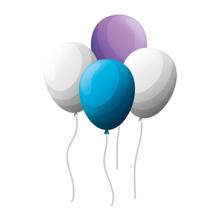 balloons helium floating icon vector illustration design Imagens - 124888326