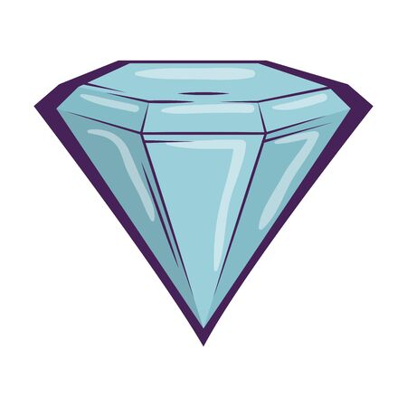 diamond luxury isolated icon vector illustration design Standard-Bild - 124892878