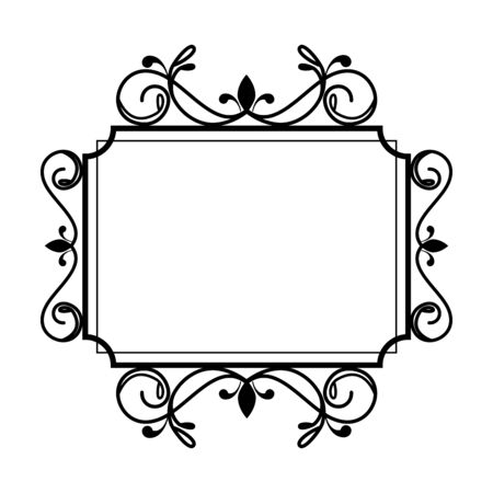 square label victorian style vector illustration design Illustration