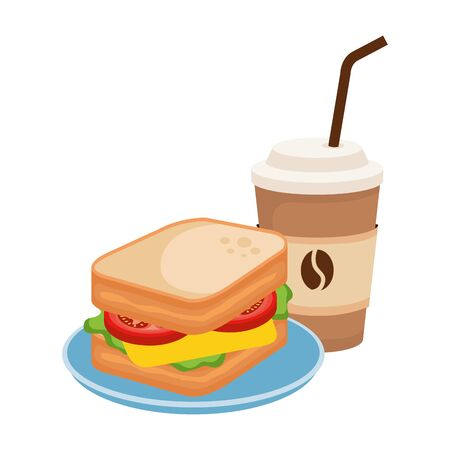delicious breakfast menu icons vector illustration design Banque d'images - 124895211