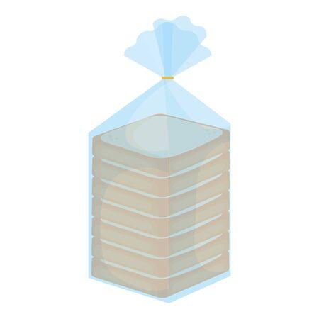 bread slice bag icon vector illustration design Illustration