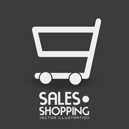 Shopping design over gray background, vector illustration.