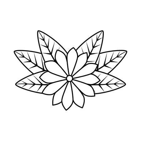 flower with leafs icon vector illustration design Illustration