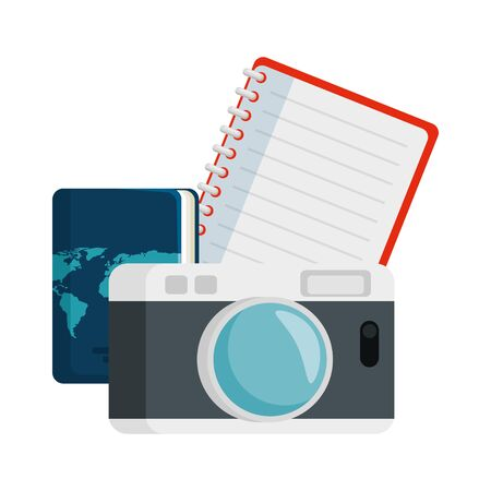 travel tourism set icons vector illustration design