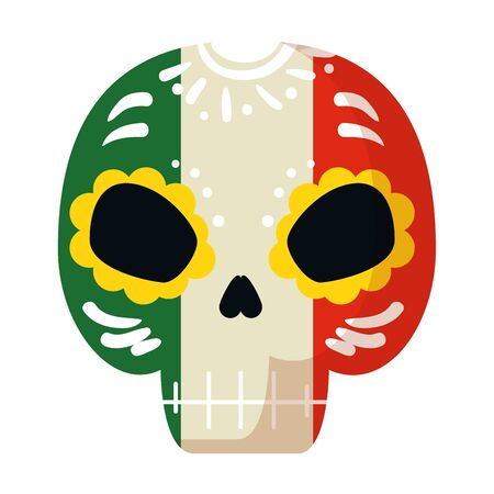 death mask mexican icon vector illustration design 写真素材 - 124906510
