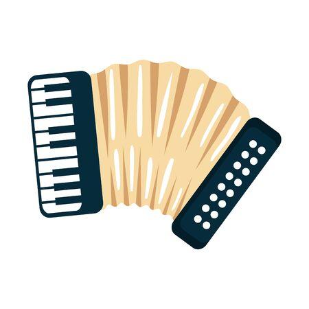 Diseño de ilustración de vector de icono de instrumento de música de acordeón Ilustración de vector