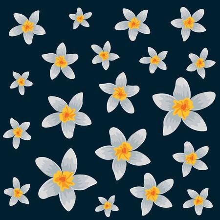 exotic tropical flowers pattern vector illustration design