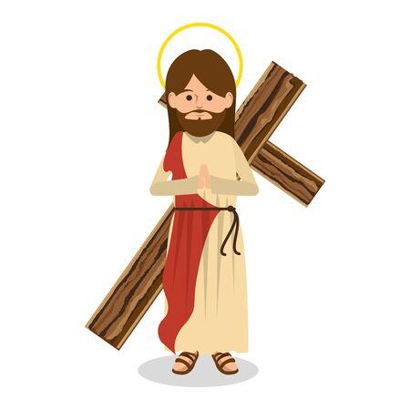 jesus christ religious character vector illustration design