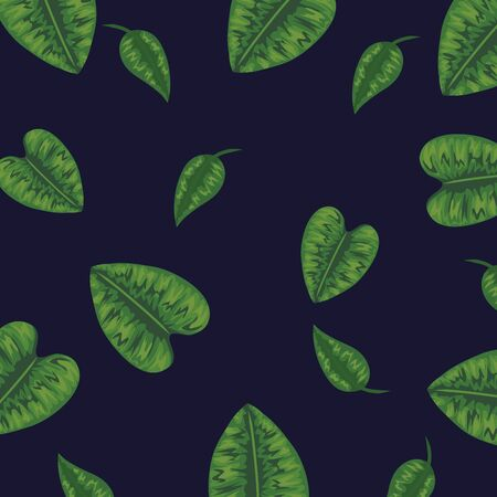 tropical leaves plants design background vector illustration