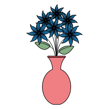 vase with flowers icon vector illustration design  イラスト・ベクター素材