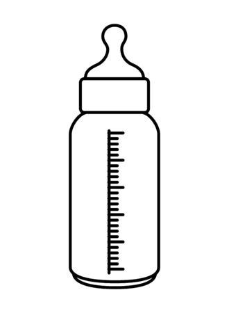 Lait bouteille bébé vecteur icône isolé illustration design