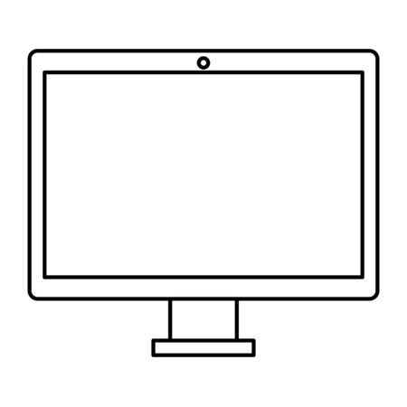 computer desktop technology isolated icon vector illustration design  イラスト・ベクター素材