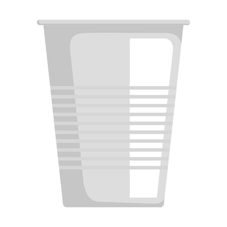 disposable cup material icon vector illustration design