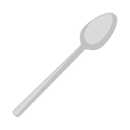 spoon cutlery tool icon vector illustration design