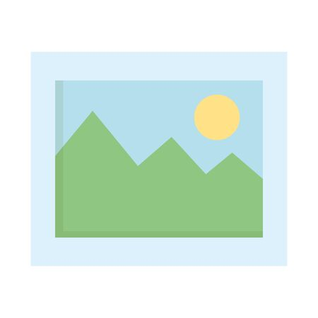 picture file format icon vector illustration design