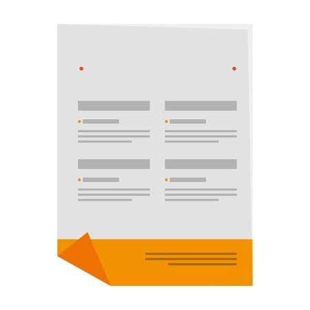 paper document with company emblem print vector illustration design