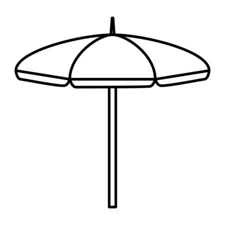 beach umbrella open summer icon vector illustration design